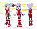 Sharon Lyra Mousie 2-Ninja Outfit ref- by RoninHunt0987