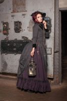 Stock - Steampunk on the telephone by S-T-A-R-gazer