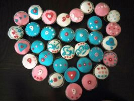 Gluten-free birthday cupcakes by shults