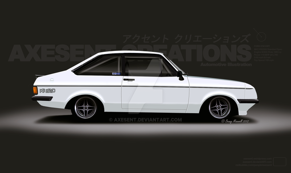 1976 Ford Escort RS2000 MK2 by Axesent