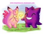 :Clefable and Gengar: by Megumita0w0