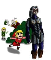 Hey! Ghirahim is picking on Link by Lillooler