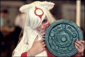 Oh, Stop it you~ Cosplay Amaterasu [OKAMI] ver. 2 by Karinui