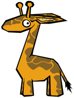 Cartoon Giraffe by dragon12321