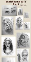 Sketchdump 2013-  Part I by missalmostperfect