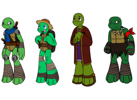 TMNT Classes AU turtles by MetaLatias5