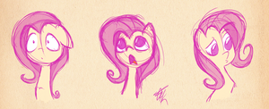 FlutterSketches by FluttershytheKind