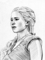 Daenerys Game of Thrones Sketch Card by Stungeon
