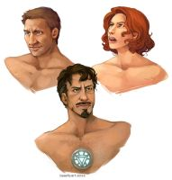 Avengers Portraits by aureath