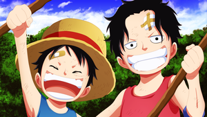 luffy y ace by xDeidar4