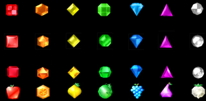 Bejeweled gems through time by zombifier25