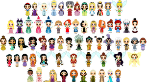 Disney Girls Pixel by starfiregal92