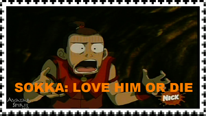 Giant Sokka Love Stamp by wizardwonders6