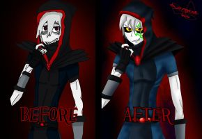 Before - After the same drawing by TheDrailusX