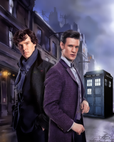 Sherlock and Dr Who by PZNS