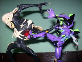 UNIT-01 VERSUS SACHIEL by Nutahal
