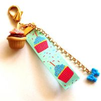 Party Cupcake Bag Charm by FatallyFeminine
