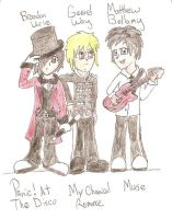 Brandon, Gerard, and Matthew by MegJ