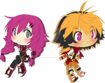 Elsword RPs - Lilith and Ersaeah [Chibi Ver] by ChibiSalLina