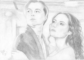 Jack and Rose from Titanic by NothingButTheWorld