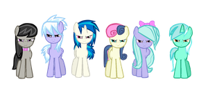 My Mane 6 Ready for Action by JustSomeRandomGeek