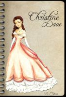 Christine Daae - Pink Dress Sketch by kt-grace