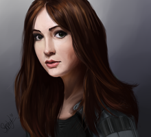Karen Gillan - Amy Pond by LittleStephy