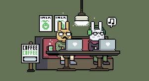 Hipster Bunnies (May 2015) by emimonserrate
