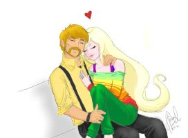 Jake and Lady by MinishCapsLock
