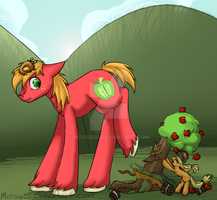 Request: BIG Mac goes Tree Tipping by Mossie55