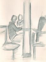 Cafe drawings 1 by Adele-Waldrom