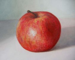 Pallete Knife Apple by Keriberrygirl