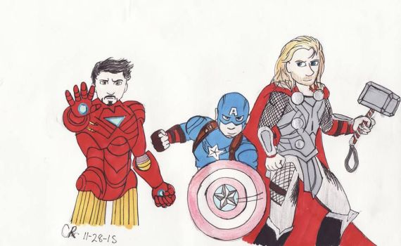 The Avengers (except Hulk) by Carrie416