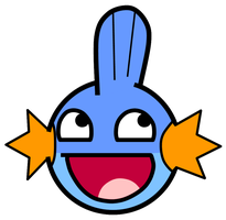 Super Awesome Mudkip Smiley by Geekfox