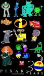 Pixar 30 Years Of Animated Movie by ESPIOARTWORK-102