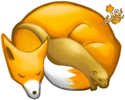 Fox and Otter by Renicrat