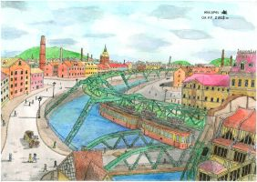 Wuppertal Schwebebahn coloured by mikopol