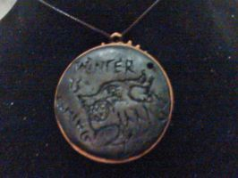 Winter Is Coming Necklace by LilFimoDragon
