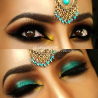 Teal Eye Makeup 2 by Desert-Winds