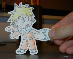 Paper child Naruto fox and style by Meje2