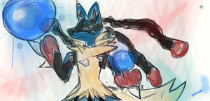lucario mega evolution by roblee96