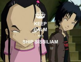 Keep Calm and ship Sissiliam by mollymolata