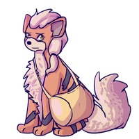 Growlithe Maya by random-ftw