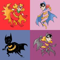 Tiny Titans Batgirls by msciuto