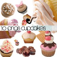 Set O1 pngs cupcakes by iamsolly