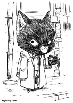 Gromy 100 Illustrations - 008 - Blacksad by Gromy
