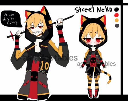 Street Neko adoptable closed by AS-Adoptables