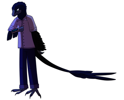 Microraptor dude by Nuclear-Wessels