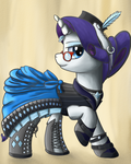 Steampunk Rarity by NiegelvonWolf
