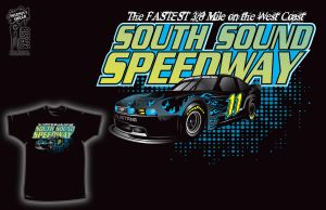SouthSound Speed Way T-shirt 1 by InsanityShack